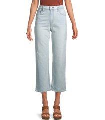 hudson women's remi high-rise straight leg crop jean - blue - size 23 (00)
