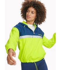 tommy hilfiger women's essential active hoodie zest / deep blue - m