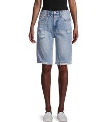 joe's jeans women's distressed denim shorts - winkler - size 24 (0)