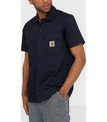 carhartt wip s/s master shirt skjortor dark navy