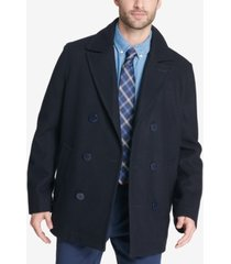 tommy hilfiger men's big & tall peacoat with scarf