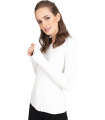 sweater privilege blanco - calce ajustado