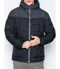 gant the hybrid hoodie jackor black