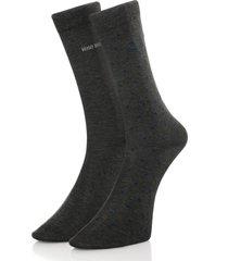 hugo boss double pack grey socks 50319263
