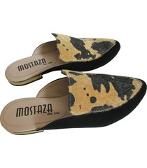 zuecos - mules - animal print