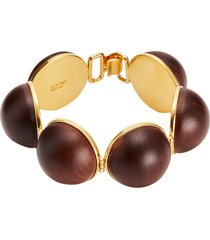 mini globe bracelet brown