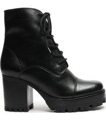 jeannie bootie - 10 black leather