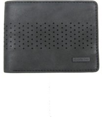 members only washed semi perforated wallet