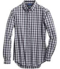 joe joseph abboud repreve® burgundy plaid slim fit sport shirt