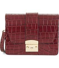 benedicte croc-embossed leather shoulder bag