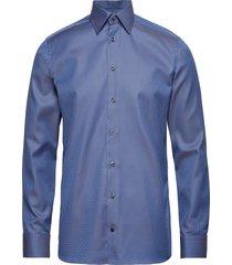 blue & beige jacquard shirt overhemd business blauw eton