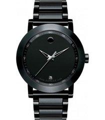 reloj  movado 606615 negro acero inoxidable