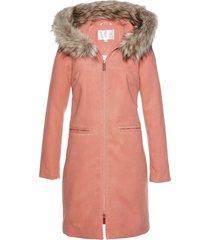 cappotto con collo in ecopelliccia (arancione) bpc selection