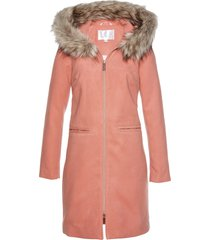 cappotto con collo in ecopelliccia (arancione) - bpc selection