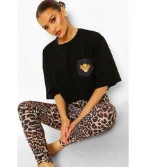 lion king disney pyjama set, zwart