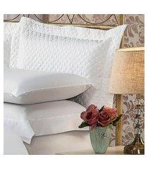 fronha para travesseiro 50x90cm matelasse soft touch branca plumasul