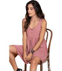 vestido corto para mujer palo de rosa oscuro rutta