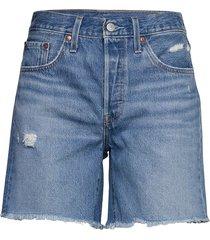 501 mid thigh short luxor stre shorts denim shorts blå levi´s women