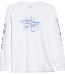 men's noah silent spring long sleeve graphic tee, size small - white