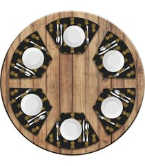 jogo americano   para mesa redonda wevans abacaxis kit com 6 pã§s  love decor - multicolorido - dafiti