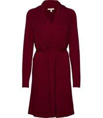 dresses knitted kort klänning röd esprit casual