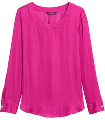 blusa pleat fucsia banana republic