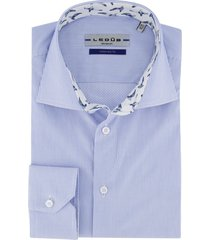ledub shirt lichtblauw gestreept ml 7 tailored fit