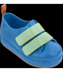 tenis melissa azul naranja verde mini go sneaker bb