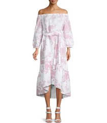saks fifth avenue women's off-the-shoulder floral dress - harlow floral - size xs