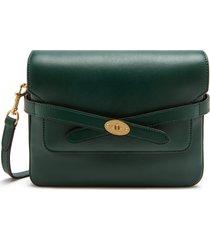mulberry bayswater belted leather shoulder bag - green