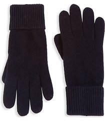 folded cuffs cashmere gloves
