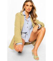oversized linen look shirt, blue