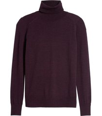 sweater merino t-neck morado banana republic