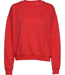 diana crew ultra soft tomato sweat-shirt trui rood levi´s women