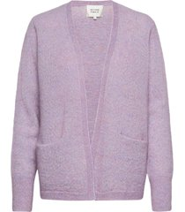 brook knit cardigan stickad tröja cardigan lila second female