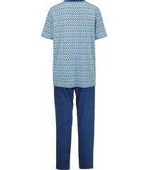 pyjamas roger kent ljusblå/marinblå