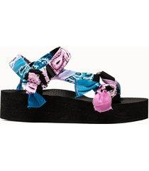 arizona love sandali trekky platform rosa azzurro
