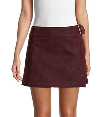 ari faux leather wrap skirt