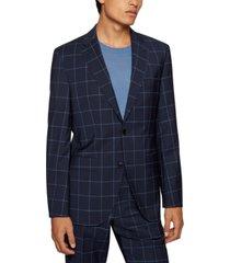 boss men's regular-fit suit virgin wool