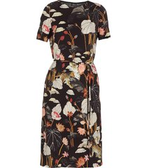 etro jersey dress with water lilies and tigers