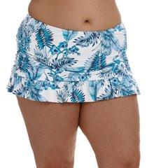la blanca plus size tranquility palm skirted swim bottoms women's swimsuit