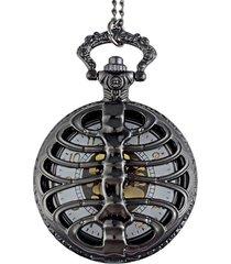 reloj bolsillo cuarzo cadena calavera steampunk p000