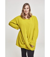 sweater urban classics sweatshirt femme grandes tailles urban classic wrapped