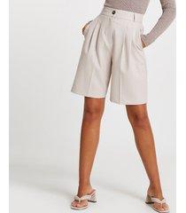 river island womens grey bermuda shorts