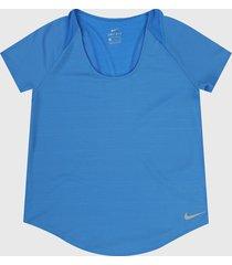 camiseta azul royal nike 10 k  top ss
