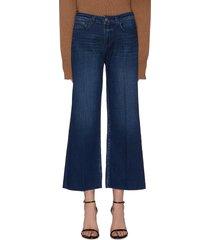 'danica' dark wash whiskering wide leg jeans