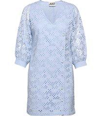 avador wrap dress kort klänning blå just female