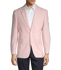 notch lapel linen blend jacket
