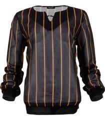 blouse maicazz blouse lesh gold stripe