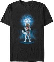 marvel men's avengers end game rocket armor suit, short sleeve t-shirt